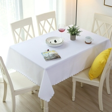 Solid Color Rectangular Dining Table Cover Polyester Coffee Table Tablecloth Rectangle For Hotel Wedding Party Decoration