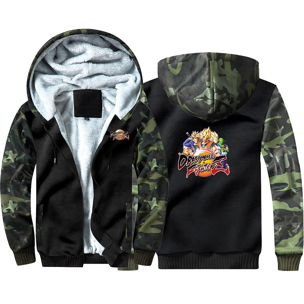 New Dragon Ball Fighter Z Icon Hoodie Sweatshirts Winter Casual  Coat Cosplay Costume Thicken Warm Hooded Men Women Clothing
