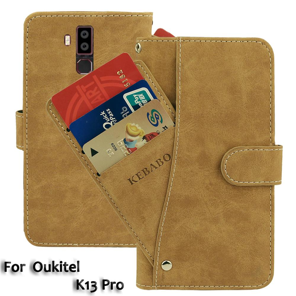 Leather Wallet <font><b>Oukitel</b></font> <font><b>K13</b></font> <font><b>Pro</b></font> <font><b>Case</b></font> 6.41