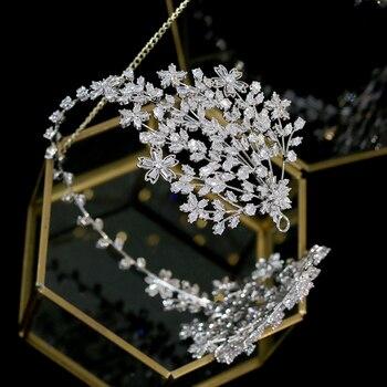 Fashion new bridal hair band wedding party Tiaras hair accessories dress accessories, dinner parade retractable pan head crown
