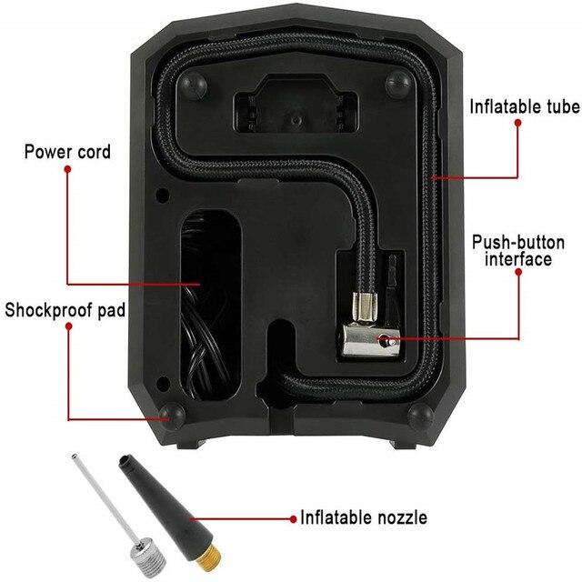 12V 120W 150 PSI pneu gonfleur pompe Portable numérique voiture compresseur dair pompe avec lumière LED Auto pompe à Air pour voiture moto