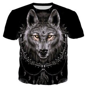 Image 4 - 凶暴な動物狼とインディアンtシャツ男性ファッション衣類 3Dプリント男性/女性原宿スタイルストリートT82 トップス