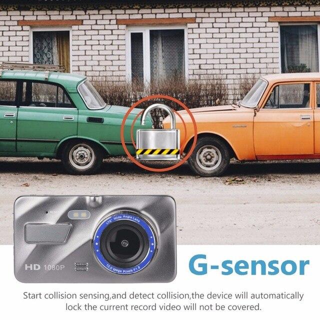 Wideorejestrator samochodowy kamera samochodowa DVR kamera samochodowa wideorejestrator automatyczny rejestrator 4 Cal ekran LCD HD 1080P rejestrator jazdy/kamera samochodowa s