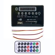 цена на Car Bluetooth MP3 WMA Decoder Board MP3 Player Car Audio USB TF FM Radio Module Wireless Hands-Free Calls 5V 12V For Car Speaker