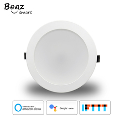 Boaz 4/6 Cal inteligentne wifi Downlight lampa led z możliwością ściemniania zmiana koloru Alexa Google strona główna sterowanie głosem sufit światła kryty domu