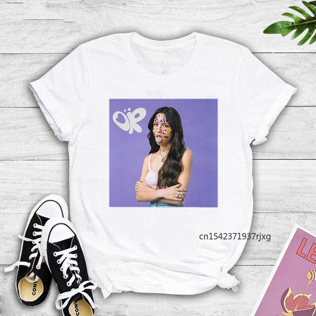 Oversized T-Shirts Vintage T-shirt Olivia Rodrigo Poster Graphic Women SOUR Album Cover Funny Women Fans Graphic Tees 1
