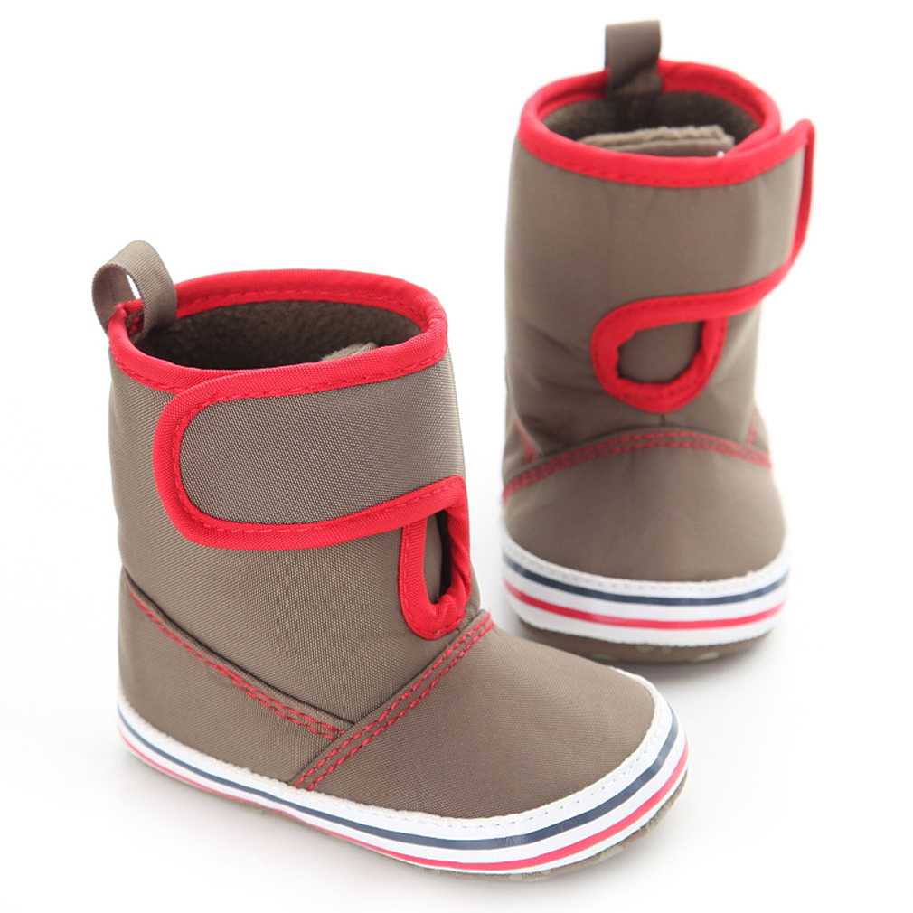 NewWarm Winter Long Tube Baby Shoes Girls Boys Cashmere Thermal Baby Shoes Outdoor Wear Soft Insole Shoes 100% Brand New