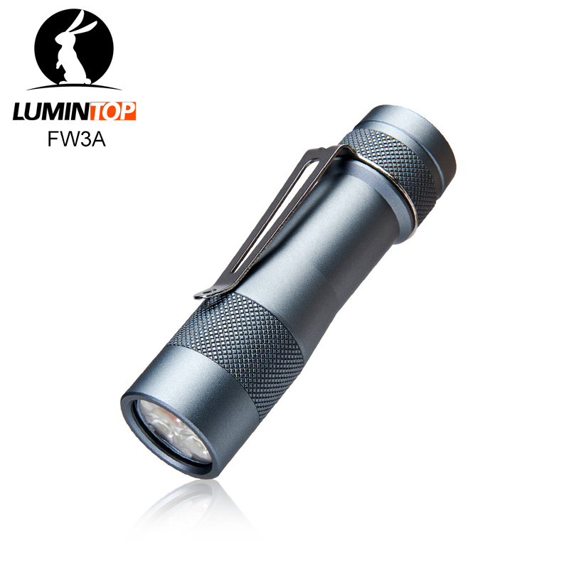 Lumintop FW3A 18650 Smart Flashlight Anduril Firmware Triple LED CREE XPL HI LED With Tail Switch 2800 Lumens 200 Meters Max