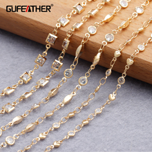 1m/Lot Necklace Diy Bracelet Jewelry-Making Gold-Plated Hand-Made Diy Chain Copper Metal