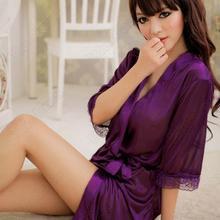 Women Sexy Underwear Temptation Nightdress Lace Nightgown Sleepwear Long Robe