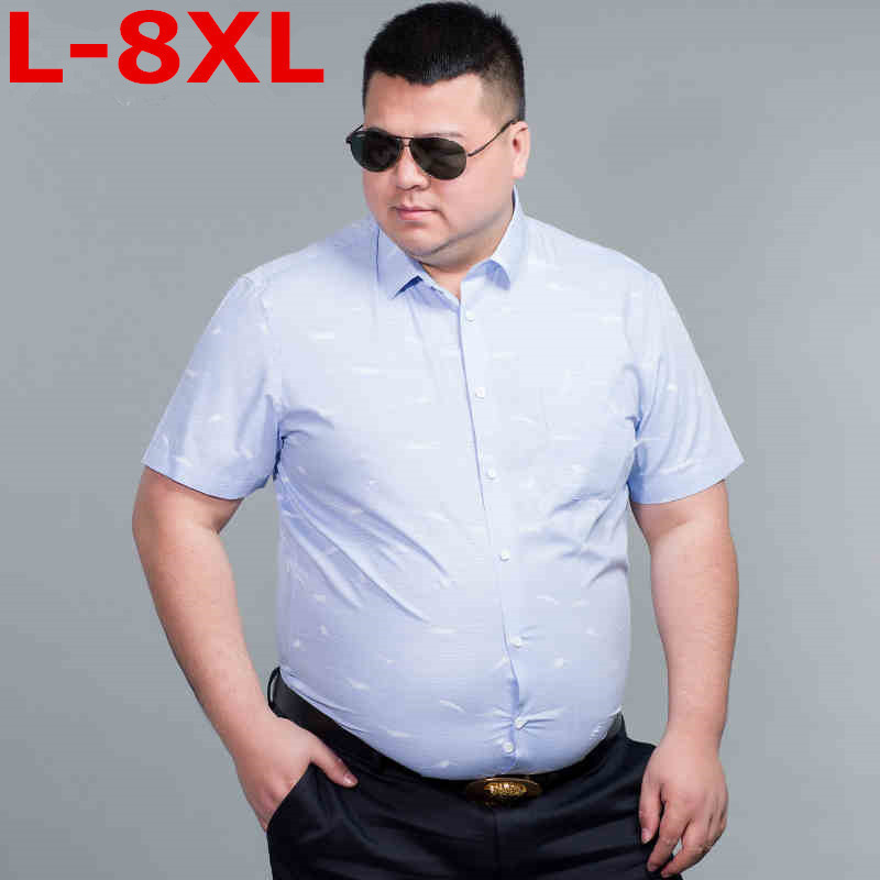 New Plus Size  8XL 7XL 6XL 9XL Mens Hawaiian Shirt Male Casual Camisa Masculina Printed Beach Shirts Short Sleeve Brand Clothing