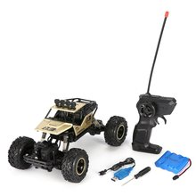 1/16 2.4GHz 4WD Alloy Body Shell Rock Crawler Double Motors Off-road Long Time Control RC