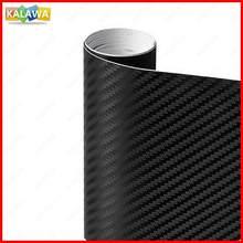 3d fibra de carbono vinil preto tamanho múltiplo carro envoltório folha rolo filme adesivo da motocicleta estilo automóvel decalques