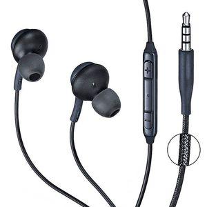 Наушники-вкладыши для Samsung Galaxy S8, наушники-вкладыши, стерео наушники-вкладыши, проводные наушники с микрофоном для Android ios