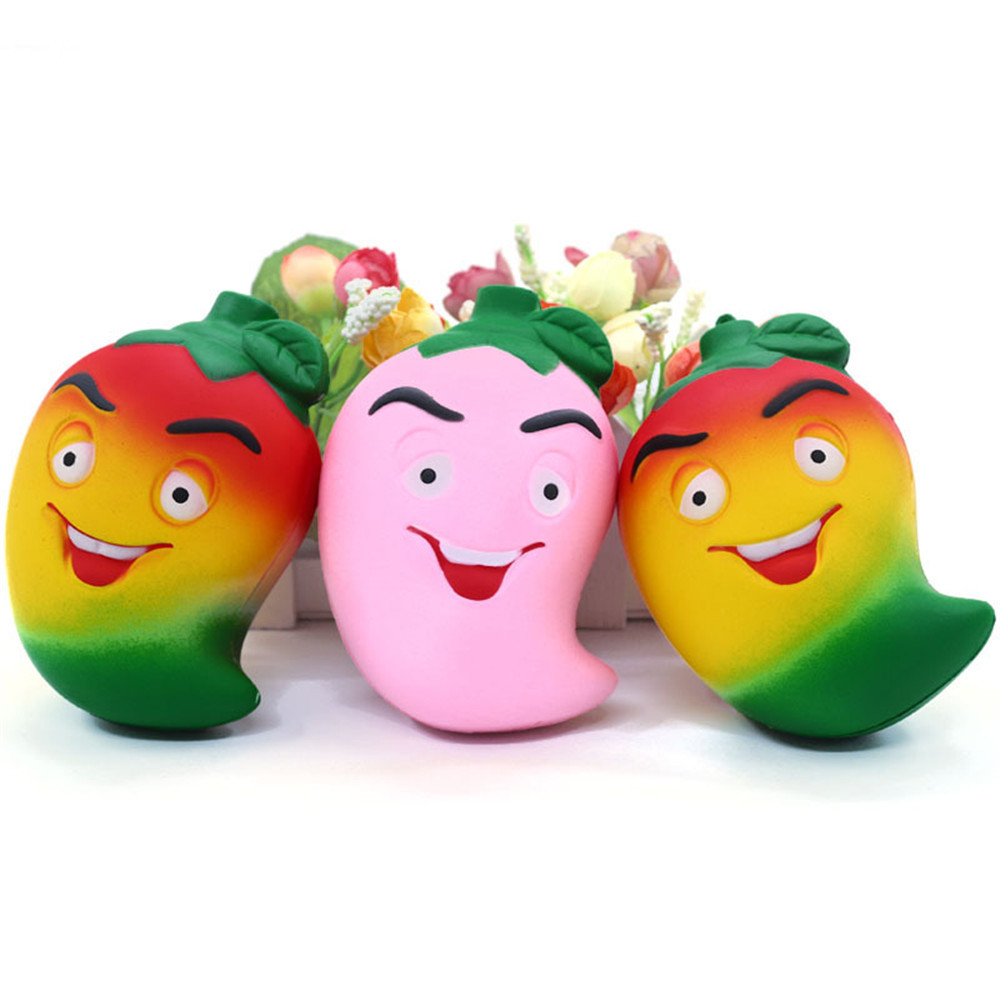 1pcs Squishy Toys Simulation Colored Pepper Anti Stress Squeeze Super Slow Rising Scented Relieve Stress Toy Decompression Toys