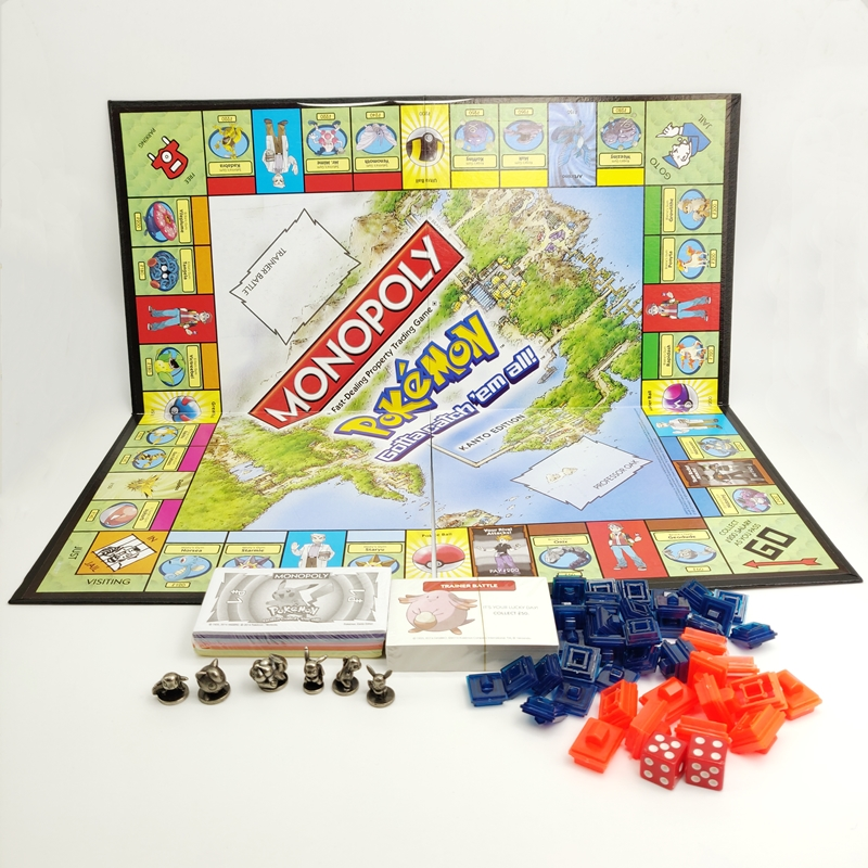 Pokemon Monopoly Card Multiplayer Party Board Games English Version image