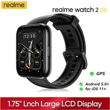 "Realme นาฬิกา2 Pro สมาร์ทนาฬิกา1.75 ""จอแสดงผลสี Dual Satellite GPS 90กีฬาโหมดแบตเตอรี่ Global รุ่น Smartwatch"