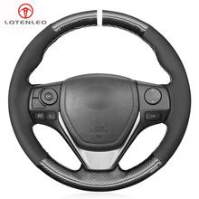 LQTENLEO czarna zamszowa osłona na kierownicę do samochodu z włókna węglowego dla Toyota RAV4 2013-2019 Corolla 2014-2019 Auris 2013-2016 Scion iM tanie tanio CN (pochodzenie) Górna Warstwa Skóry Kierownice i piasty kierownicy 0 22kg Four Seasons General 13cm for Toyota RAV4 2013-2019 Corolla 2014-2019 Auris 2013-2016 Scion iM 2