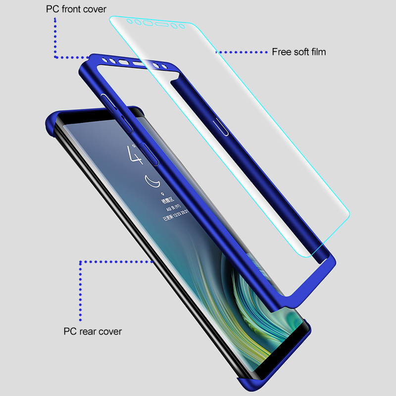 Funda completa para teléfono Samsung Galaxy, carcasa 360 a prueba de golpes para Samsung Galaxy S10, S9, S8 Plus, S20, A50, A51, Note 10 Plus, 8, 9 2