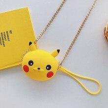 New Fashion Design Pikachu Wallets Women Coin Purse Small Cute Cartoon Kawaii Card Holder Key Chain Money Bags For Girls Ladies
