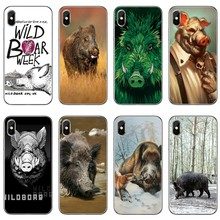 wild boar Classic animal For Xiaomi Mi A3 A2 lite A1 6 6x 5 5s 5x 4c 4i max mix 1 2 2s 3 Pocophone F1 Phone Case Back Cover(China)