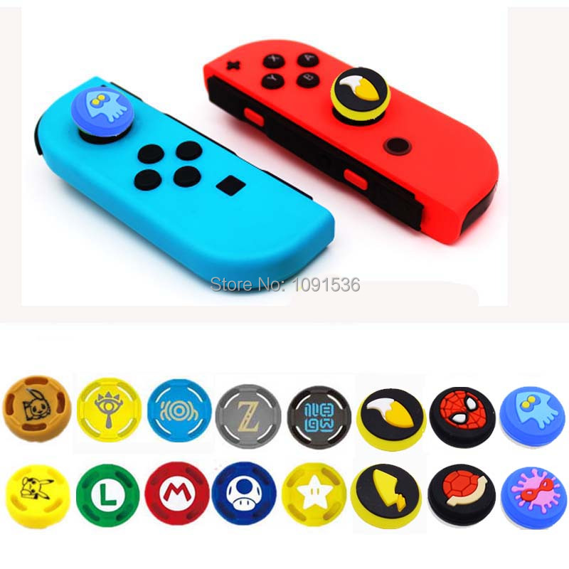 2 Pcs Silicone Analog Thumb Stick Grips Caps For Nintend Switch NS JoyCon Controller Thumbsticks Cap Skin For Switch Lite Cover