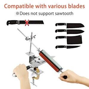 Image 2 - Sistema professionale per affilare i coltelli da cucina con 4 pezzi di pietre per affilare + lega di alluminio + Set di strumenti per affilare i coltelli con clip G