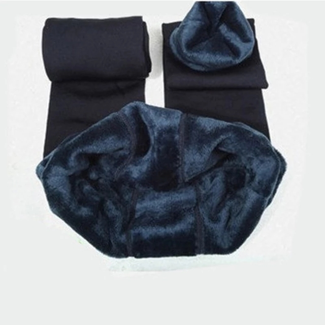 Winter Warm Plus Size Leggins Solid Color Velvet Women Leggins High Waist Leggings Stretchy Black Leggings dropshipping 5