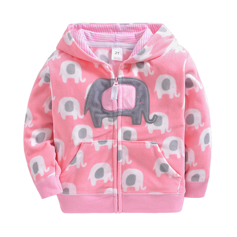 Girls Hoodie Jacket Sweatshirt Polar-Fleece Autumn Baby Boys Kids Children Casual New