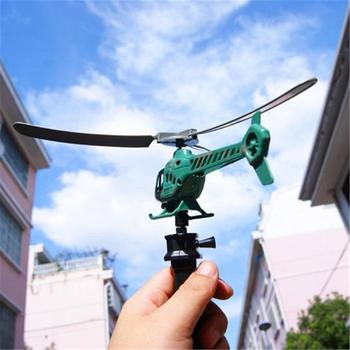 Aviation Handle Pull Helicopter Plane Outdoor Playing Toys for Kids Children image