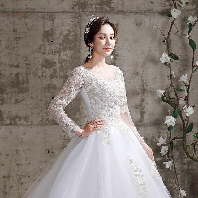 Applique Lace O-neck Wedding Dress 3