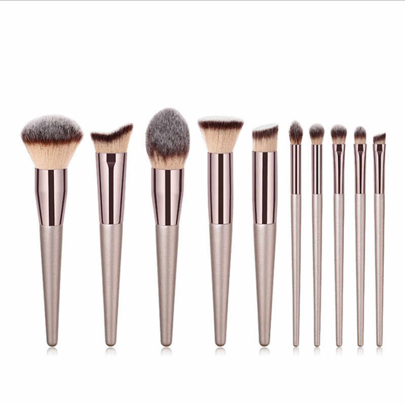 1PC Kayu Foundation Kosmetik Alis Eyeshadow Brush Profissional Eye Shadow Makeup Brushes Set Alat