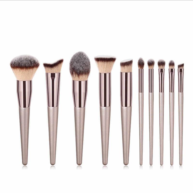 1PC fond de teint en bois cosmétique sourcil fard à paupières brosse professionnel ombre à paupières maquillage pinceaux ensembles outils