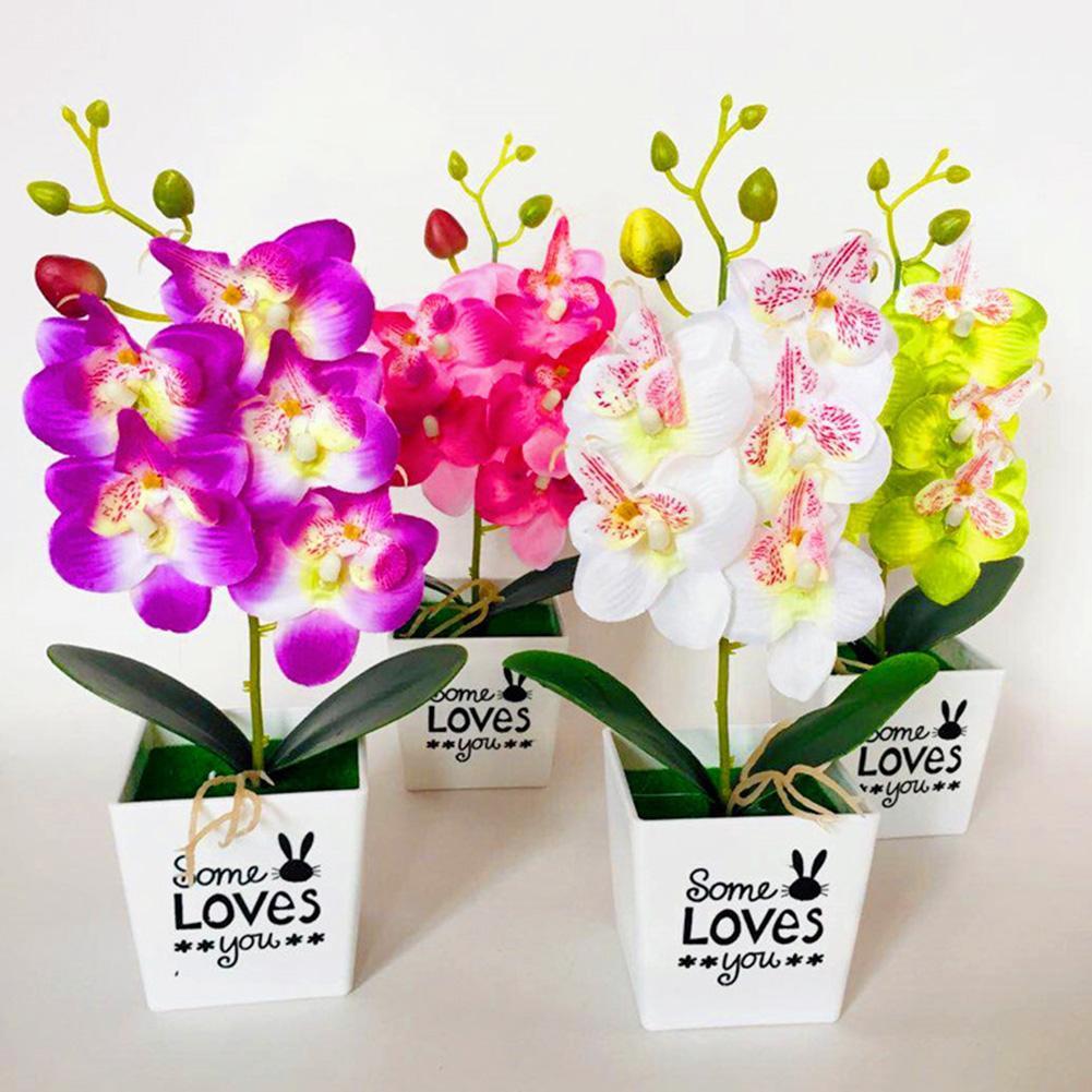 Искусственный Пластик бонсай, искусственные растения цветочный свадебный Декор для дома садовый отель горшечные искусственные, пластиков...