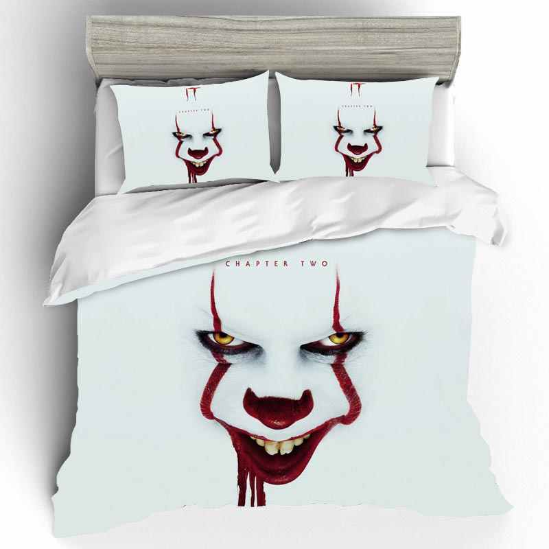 IT CHAPTER TWO Bedding Sets Home Textile Cotton Duvet Cover Single Queen King Size Bedding Set Bed Sheets Pillowcases Bed Linen