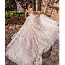 Ivory 2020 Vintage New arriva Wedding Dresses Long Sleeves Lace Applique Wedding Gowns Custom Made Bridal Dress Robe de mariee(China)
