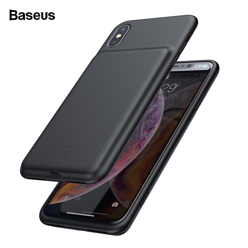 Baseus Batterij Oplader Voor Iphone Xs Max Xr X Powerbank Opladen Case Voor Iphone Xsmax Power Bank Externe Lader cover