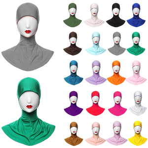 Image 1 - Ramadan Muslim Women Inner Cap Full Cover Islamic Under Scarf Hijab Hat Headwear Ninja Bonnet Amira Niquabs Solid Color Fashion