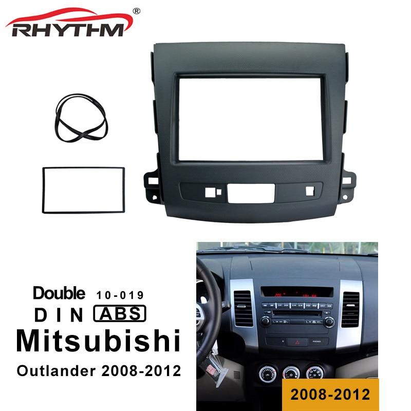 2 Din Автомобильная фасция для MITSUBISHI Outlander 2008 2012 автомобильный DVD стерео панель приборная Монтажная установка комплект накладка рамка для лиц