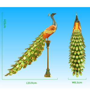 Image 2 - Toy Adult puzzle 3D Metal Puzzle  Colorful Peacock DIY Laser Jigsaw Puzzle Model Kit High Difficult Teen Toy Puzzle