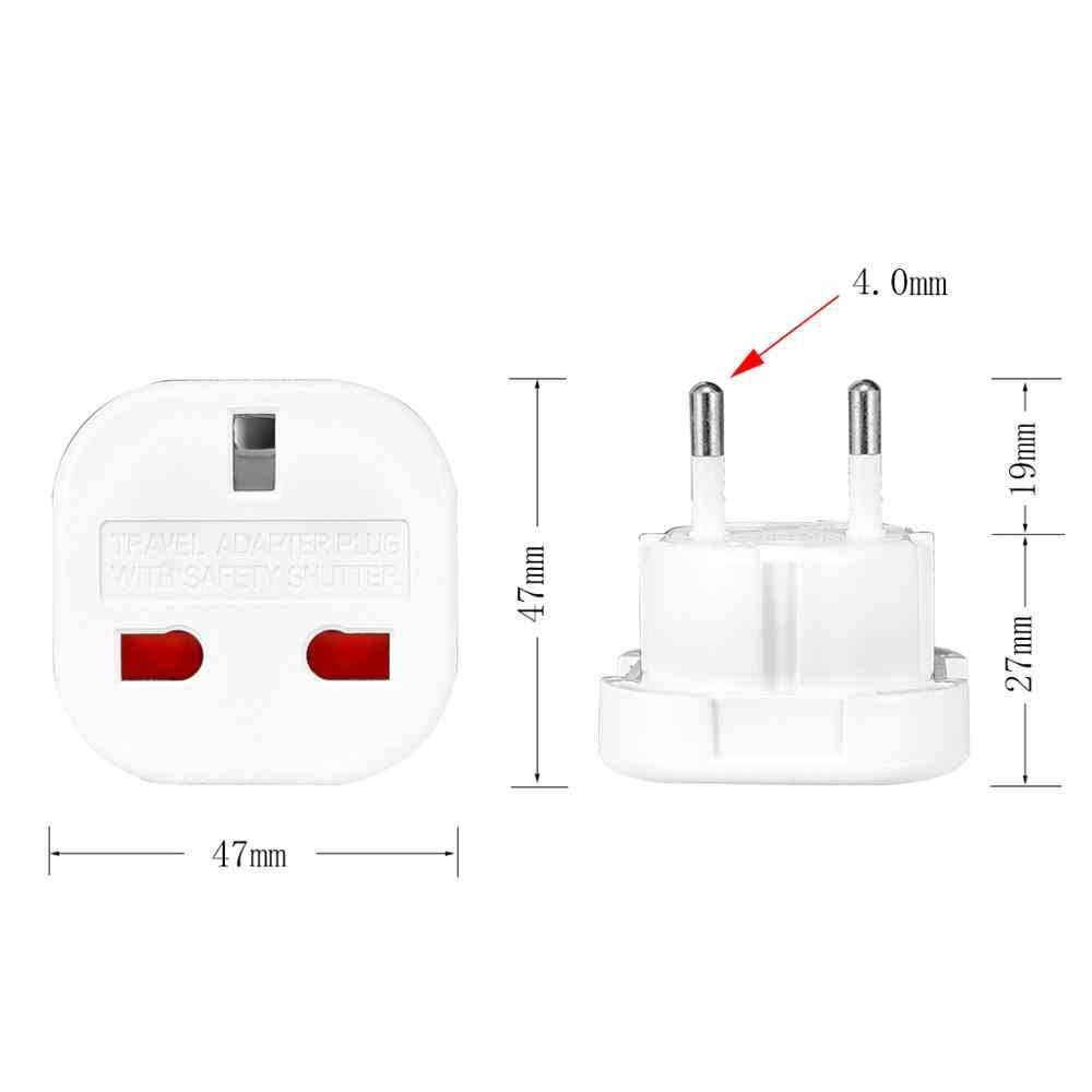 1Pc Universal Uk Eu Plug Converter 250V Ac Power Adapter Oplader Euro Travel Adapter Eu Plug Adapter britse Scoket Outlet