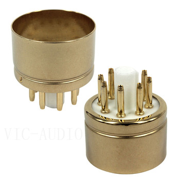 2PCS 8Pin Ceramic Tube Socket 6N8-G Electron Tube Seat Tube Base For 6V6 6SN7 6SL7 6N8 EL34 6P3P Vacuum Tube Amplifier DIY Audio image