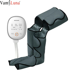 New Leg Air Compression Massager Heated for Foot and Calf Thigh Circulation with Handheld Controller 2 Modes 3 Intensities