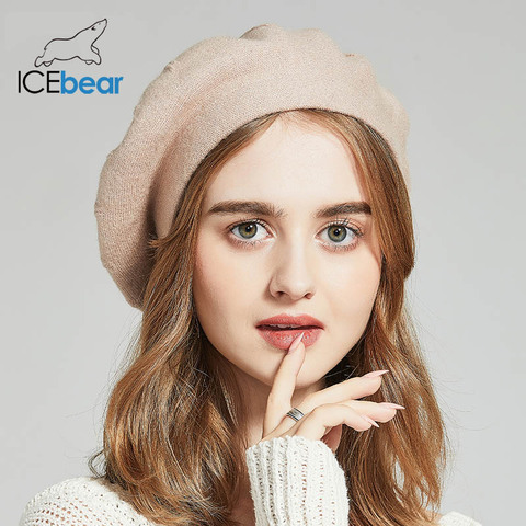 ICEbear Winter Hats For Women Autumn Knitted Wool Painter Caps New Fashion Solid Color  For Lady E-MX18133 Karachi