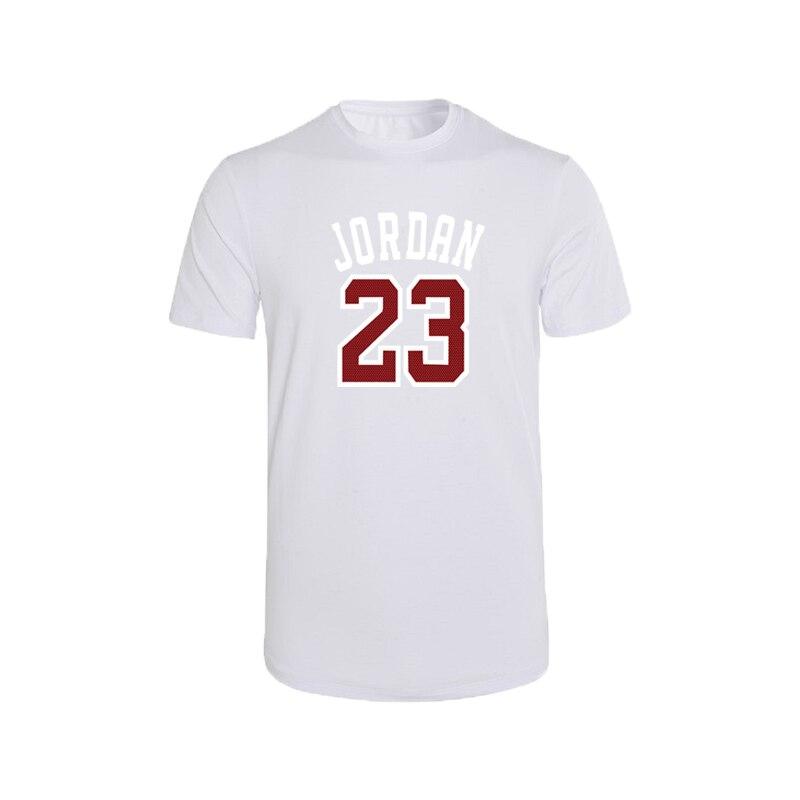 2020 nova primavera, verão, t camisa masculina 100% algodão manga curta t-shirts de alta qualidade menino t camisa topos vermelho jordan 23 o pescoço tshirt