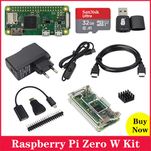 Raspberry Pi Zero W (беспроводной) Процессор 1G Hz 512M RAM, встроенный Wi Fi Bluetooth 1080P видео выход Raspberry Pi Zero W Плата Pi 0 W