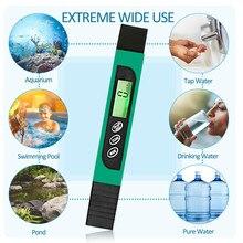 1 шт. цифровой ЖК-дисплей для тестирования качества воды ручка фильтр-метр тестер 0-9990 PPM портативный тестер хлора температуры для бассейн