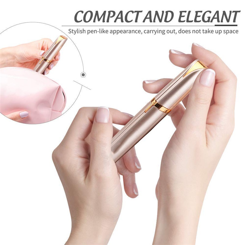 Lipstick Design Mini Eyebrow Trimmer Makeup Painless Eyebrow Epilator Women  Shaver Razors Portable Facial Hair Remover