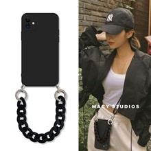 Crossbody Lanyard Necklace Marble chain silicone case for iphone 12 Pro Max 12 MiNi 11 Pro Max XR X XS Max 7 8 plus SE 2020