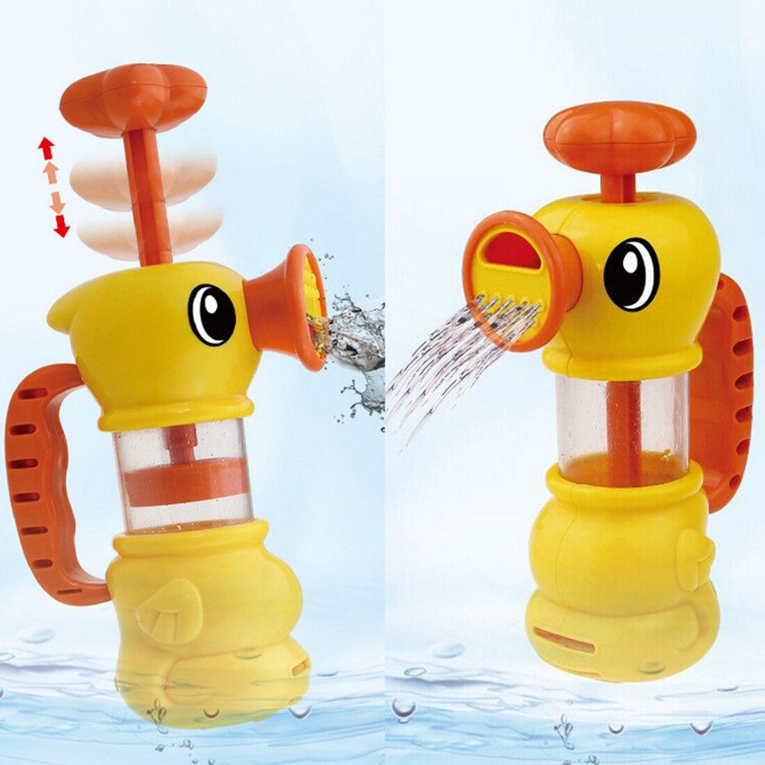 Mignon canard enfants pompe pompage Spray bain d'eau douche piscine jouer jouet-jaune